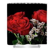 Say It With Flowers Shower Curtain by Tracy Hall