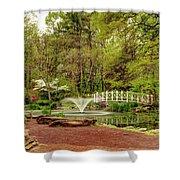 Sayen Gardens Bridge Series Shower Curtain