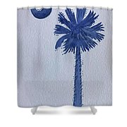 Sc Palmetto And Crescent Shower Curtain