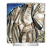 Scafell Crag 2  Shower Curtain
