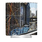 Scaffolding In The City Shower Curtain