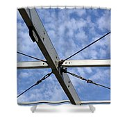Scaffolding Sky View Shower Curtain