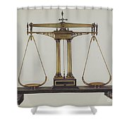 Scales For Weighing Gold Shower Curtain