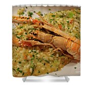 Scampi Risotto Shower Curtain