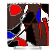 Scandal In Bohemia Original Abstract Expressionism Art Painting Shower Curtain
