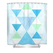 Scandi Blue Shower Curtain