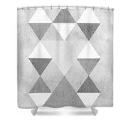 Scandi Grey Shower Curtain