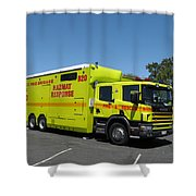 Scania Fire Truck Shower Curtain