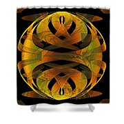 Scarab Shower Curtain by Amanda Moore