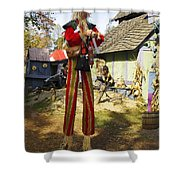 Scarecrow Walking On Stilts Shower Curtain