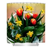 Scarlet And Gold Shower Curtain
