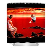 Scarlet Evening In December Shower Curtain