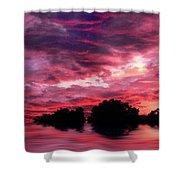 Scarlet Skies Shower Curtain