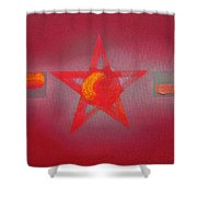 Scarlet Vermillion Shower Curtain