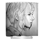 Scarlett Johansson As Major From Ghost In The Shell Shower Curtain