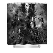 Scarlett Johansson Black Widow Shower Curtain