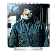 Scary Clown With Coat Shower Curtain