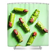 Scary Halloween Sweets Shower Curtain