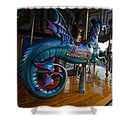 Scary Merry Go Round Boston Common Carousel Shower Curtain