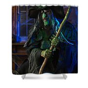 Scary Old Witch Shower Curtain