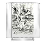Scary Tree Shower Curtain