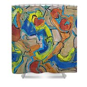 Scattered Roses Shower Curtain