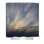 Scattered Sky Shower Curtain