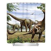 Scelidosaurus, Nothronychus Shower Curtain