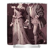 Scene From Much Ado About Nothing By William Shakespeare Shower Curtain