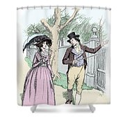 Scene From Sense And Sensibility By Jane Austen Shower Curtain