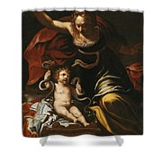 Scene From The Childhood Of Hercules Shower Curtain