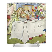 Scene From The Story Of Goldilocks And The Three Bears Shower Curtain