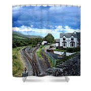Scene In Snowdonia National Park In Wales Shower Curtain