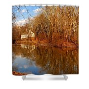 Scene In The Forest - Allaire State Park Shower Curtain