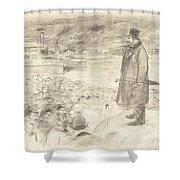 Scene Of A Strike (third Plate) Shower Curtain