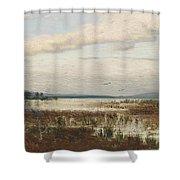 Scene Of Chiemsee, Moor Landscape Shower Curtain