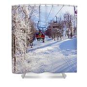 Scenery Around Timberline Ski Resort West Virginia Shower Curtain