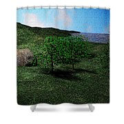 Scenery Shower Curtain by James Barnes