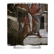 Scenes From The Life Of Moses Detail Alessandro Botticelli Shower Curtain