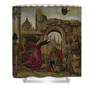 Scenes From The Life Of Saint Vincent Ferrer Shower Curtain