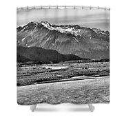 Scenic Alaska Bw Shower Curtain