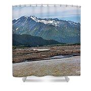 Scenic Alaska Color  Shower Curtain
