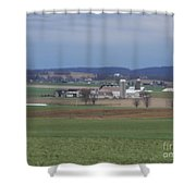Scenic April Amish Vista Shower Curtain