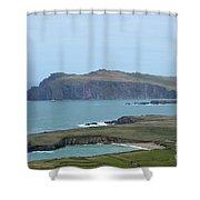 Scenic Blasket Islands As Seen From Slea Head Penninsula Shower Curtain