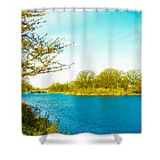 Scenic Branch Brook Park Shower Curtain