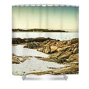Scenic Coastal Dusk Shower Curtain