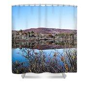 Scenic Lake On The Kancamangus Shower Curtain