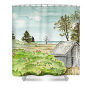 Scenic Maine   Shower Curtain