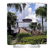 Scenic Melbourne Beach Pier  Florida Shower Curtain