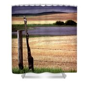 Scenic Saskatchewan Landscape Shower Curtain